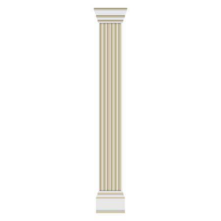antiquities: Raster illustration roman column. Pilaster. Classical Greek or Roman column Stock Photo