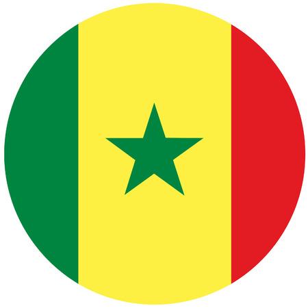 senegalese: Raster illustration of senegal flag.  Round natianal flag of  senegal. Senegalese flag