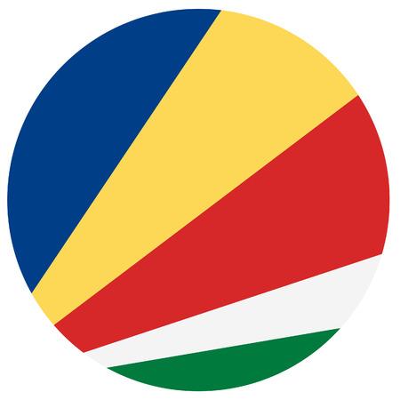 seychelles: Raster illustration of seychelles flag.  Round natianal flag of  seychelles.