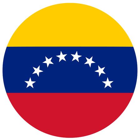 venezuela flag: Raster illustration of venezuela flag. Round natianal flag of venezuela. Venezuelian flag Stock Photo