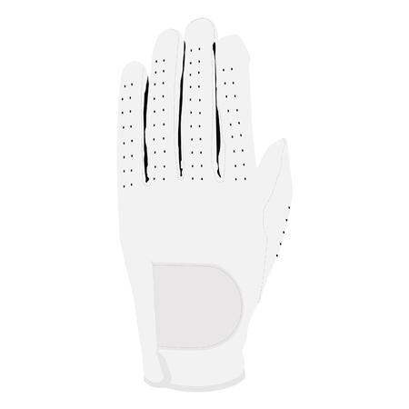 white glove: White glove, sport glove, glove isolated, motorcycle glove Stock Photo