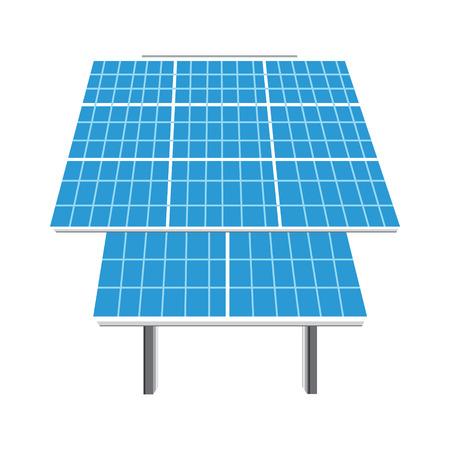 photovoltaic panel: Raster illustration solar panel icon. Photovoltaic electric solar panel. Renewable energy. Ecology energy