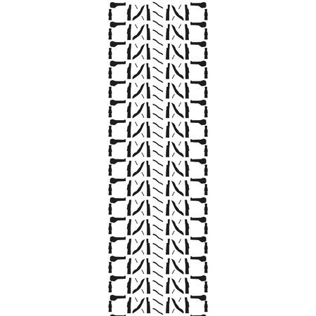 skidding: Raster illustration black silhouette of tire print.