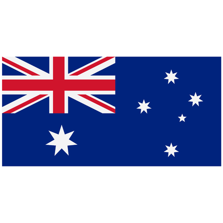 sidney: Raster illustration flag of Australia. Rectangular national flag of Australia. Australian flag button