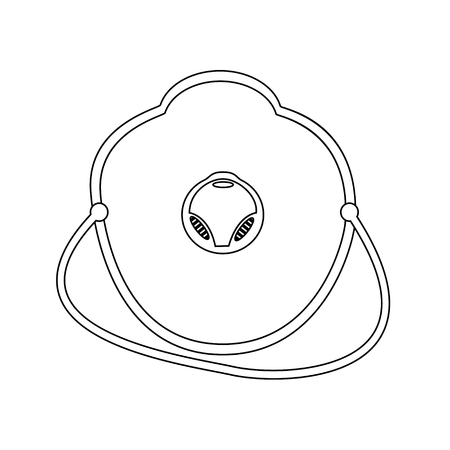 respirator: Raster illustration white medical mask, respirator flat icon. Medical accessories. Medical doctor mask outline drawing