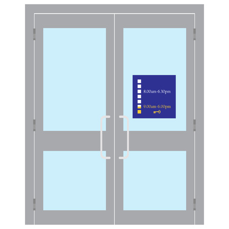 Vector illustration entrance door for office, home, store, mall, shop, supermarket in flat style.