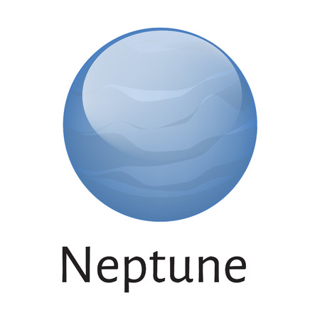 neptune: Vector illustration neptune planet from solar system isolated on white background. Neptune planet icon