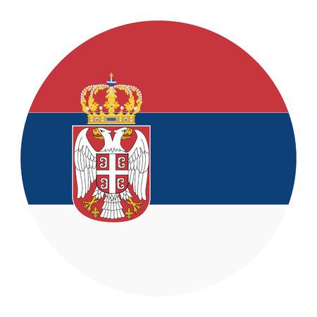 serbia flag: Vector illustration flag of Serbia icon. Round national flag of Serbia. Serbia flag button