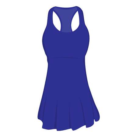 sports clothing: Blue sport dress for girl, tennis dress, tennis wear, sports clothing. Tennis uniform