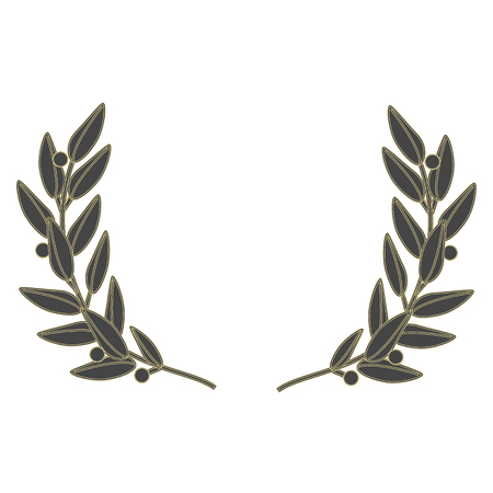 Vector illustration wreath isolated on white background. Laurel wreath
