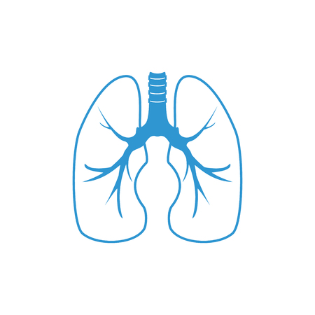 pulmonary: Raster illustration of human lungs. Lungs icon, pulmonary clinic