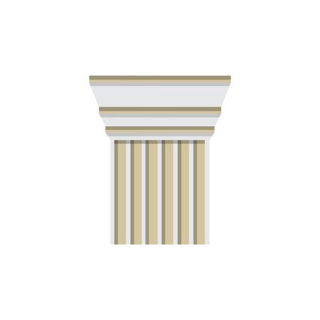 classical greek: Column design template. Vector illustration column capitals classical Greek or Roman style architecture bureau