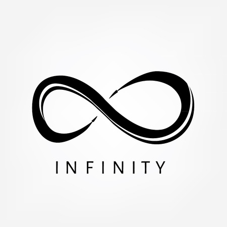 eternally: Raster illustration black infinity symbols, sign. Limitless symbol, icon