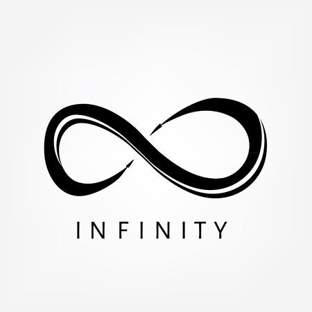 eternally: Raster illustration black infinity symbols, sign. Limitless symbol, icon