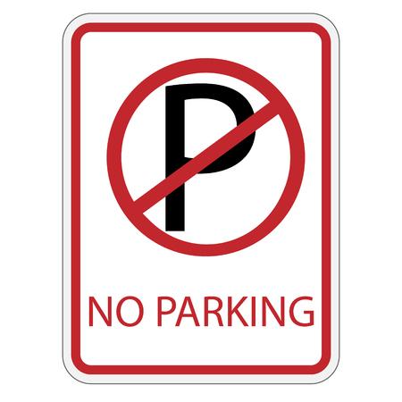 raster illustration: Raster illustration no parking sign. Road sign