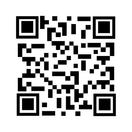qrcode: Raster illustration qr code sample. Bar code. Qr code icon Stock Photo