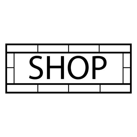 signboard design: Vector illustration modern shop sign. Signboard design template. Shop, store sign icon Illustration
