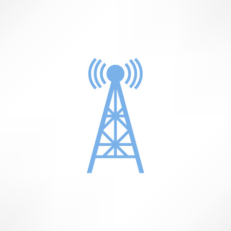wireless tower: Vector illustration radio antenna wireless. Technology and network signal radio antenna. Wave tower radio antenna. Telecommunications radio antenna tower or mobile phone base station with engineers concept vector. Illustration