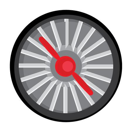 turbine engine: Raster illustration jet engine turbine. Technology aircraft, engine power, blade and fan.