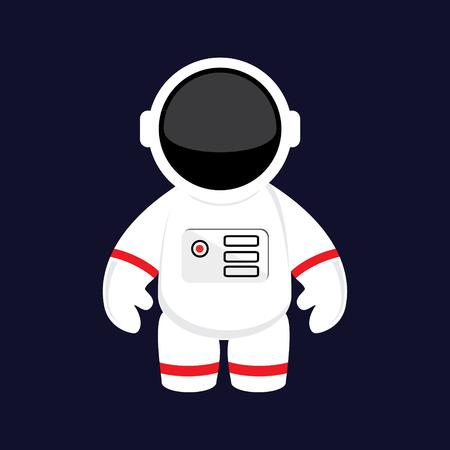 래스터 그림 만화 우주 비행사, 우주 비행사 공간에서. 우주복. 우주 비행사 평면 아이콘
