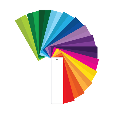 Raster Illustration Of Colour Guide. Color Swatches. Color Palette ...