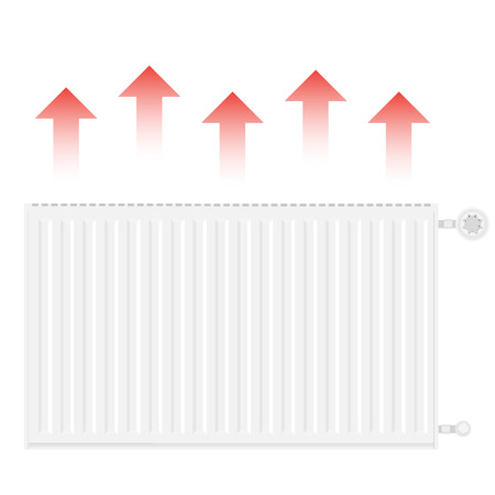 Vector illustration realistic white heating radiator. Central Heating Radiators icons Illustration