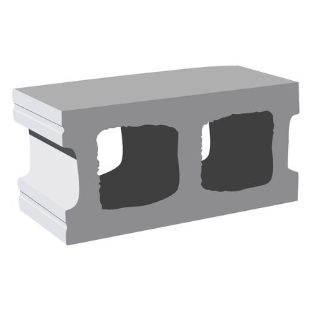 concrete block: Vector illustration standard concrete building block for architectural works. Cement block icon used for masonry Illustration
