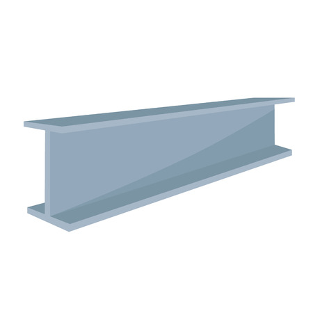 steel beam: Vector illustration construction steel beam for architectural works