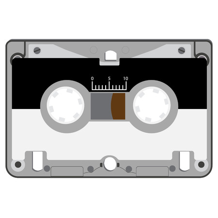 analogical: Vector illustration realistic audio cassette tape isolated on white background