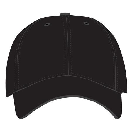 ベクトル図の茶色の野球帽やシャドウと帽子 野球キャップのアイコン
