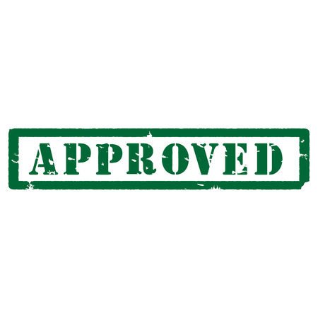 approved sign: Green rubber stamp vector, approved rubber stamp. Approved sign