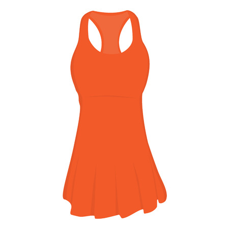 Orange sport dress for girl, tennis dress, tennis wear, sports clothing. Tennis uniform