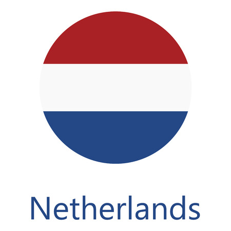 netherlands flag: Round netherlands flag vector icon isolated, netherlands flag button