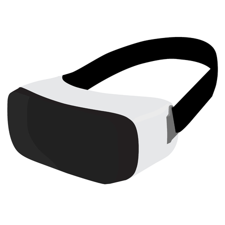 Vector illustration VR glasses for smartphone. Virtual reality box for smartphone. VR box icon. VR headset icon. Illustration