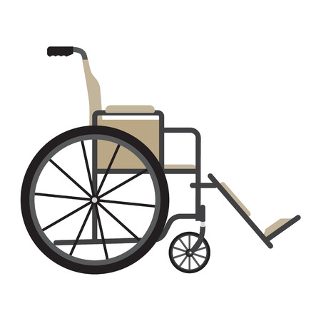 heath: Vector illustration wheelchair for persons with disabilities isolated on white background. Medical equipment icon. Disabled handicap.