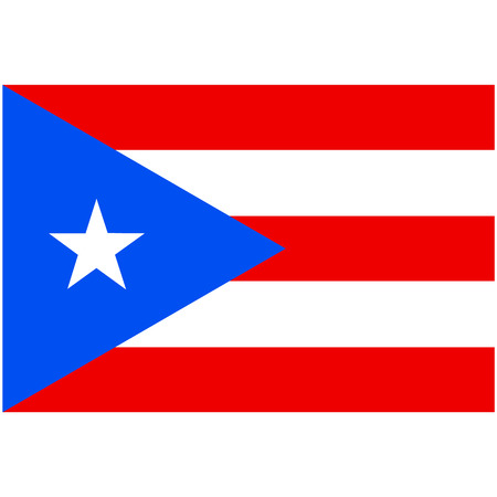puertorico: Vector illustration rectangle Puerto Rico flag icon isolated on white background. Puerto-rico flag button Illustration