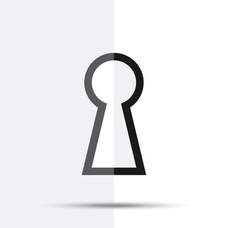 Keyhole icon. Raster illustration key hole isolated on white background