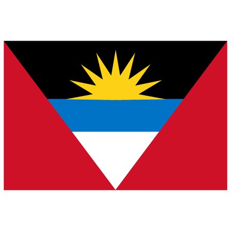 antigua and barbuda: Raster illustration Antigua and Barbuda flag raster icon. Rectangular national flag of  Antigua and Barbuda.  Antigua and Barbuda flag button