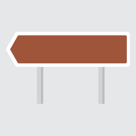 right choice: Raster illustration blank, empty road sign icon, flat design. Template for a text Stock Photo
