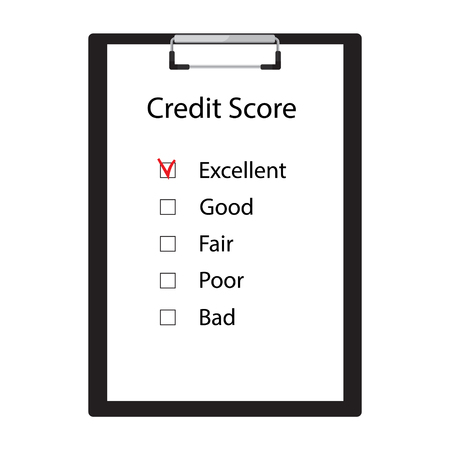 Credit score rate good, fair, poor, bad and excellent.