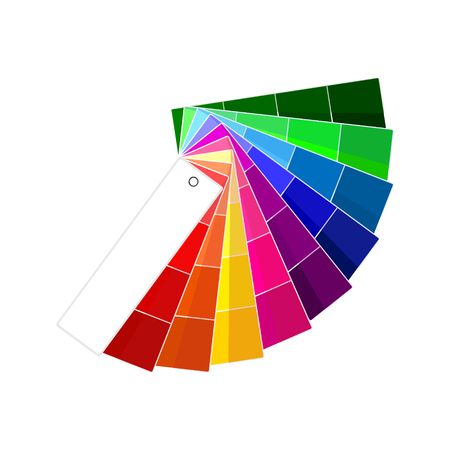 Raster illustration of colour guide. Color swatches. Color palette. Colorful swatches book Stock Photo