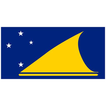 tokelau: raster illustration flag of Tokelau icon. Rectangle national flag of Tokelau. Tokelau flag button Stock Photo