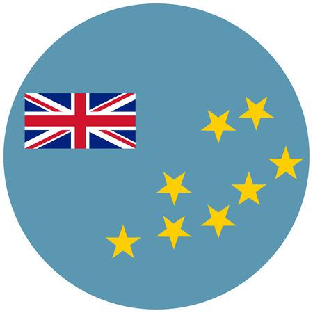 celebrities: raster illustration flag of Tuvalu icon. Round national flag of Tuvalu. Stock Photo