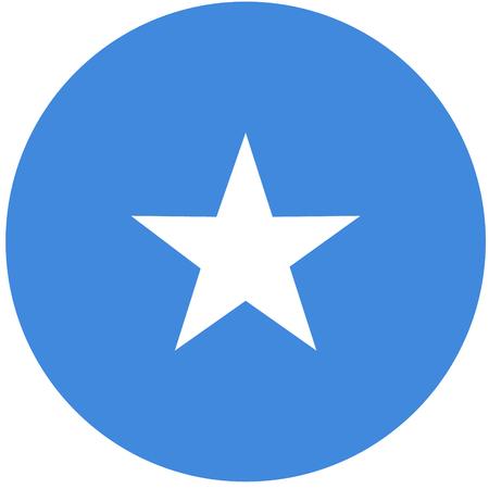 raster illustration flag of Somalia icon. Round national flag of Somalia. Somalia flag button