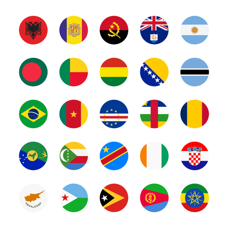 national flag ethiopia: Collection of flag button design. Circle flags of the world.