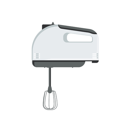Vector illustration hand mixer isolated on white background. Kitchen utensil. Electric blender icon.