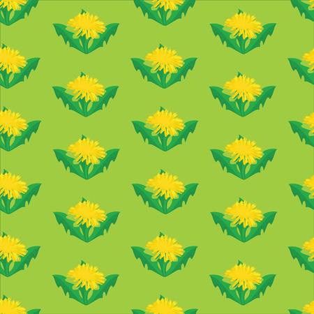 overblown: Raster illustration decorative Raster pattern with dandelions. Nature floral background.