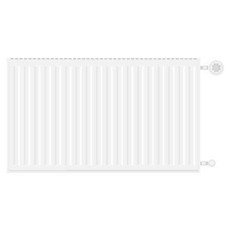 Raster illustration realistic white heating radiator. Central Heating Radiators icons Stock Photo