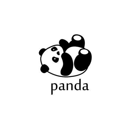 Raster Illustration Cute Cartoon Asian Panda Bear Set Collection