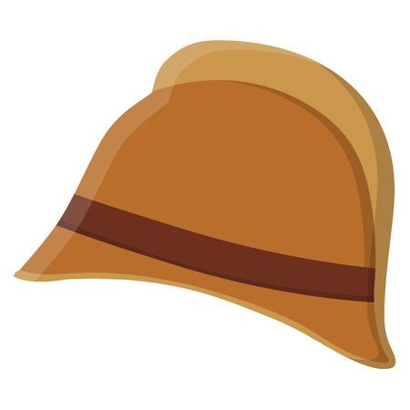Raster illustratie vintage, retro, antieke brand helm. Brandweerman uniform. Brandweerman